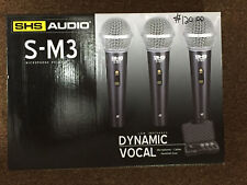 Shs Audio S-M3 Low Impedance Dynamic Vocal Microphones with Case - Mic 3 Pack