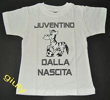 "MAGLIA JUVENTUS bambino neonato 2/4 anni ""JUVENTINO DALLA NASCITA"" t-shirt Juve"