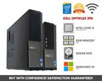 Dell Optiplex 390 Desktop PC | Intel Core i5 | 8GB 500GB | Windows 10 WiFi HDMI