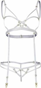 SALE Choker Style Strappy Open Cup Bra and Thong Set - S/M (UK 8-12)