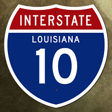 Louisiana interstate route 10 highway marker road sign 18x18 New Orleans