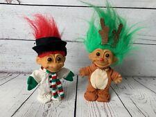 RUSS Christmas Troll Dolls - Snowman & Reindeer 18449