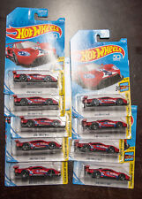 Hot Wheels  2016 Ford GT Race red lot of 9