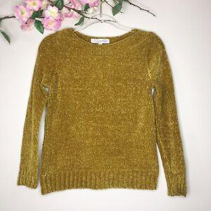 Loft Mustard Yellow Pullover Chunky Sweater- Size XSP