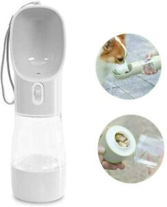 MAOCG Dog Travel Water & Food Bottle for Walking, Leakproof Portable Dog Puppy