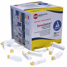Dynarex 7124 SensiLance Safety Lancets Button Activated 26 ga., Sterile,10 boxes