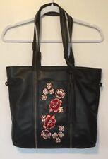 Libby Edelman Purse/handbag/tote/shoulder Bag Embroidered Flowers Soft