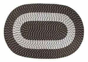 """Home Accent Bedroom PolypropyleTransitional Braided Oval Rugs 20""""LX30""""W New"""