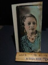 Beautiful African american female tinted photobooth photo