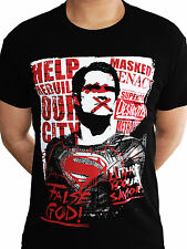 False God Official Batman vs Superman Justice League DC Comics Men Black T-shirt