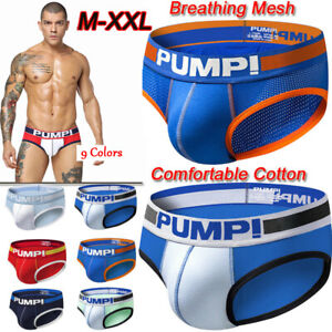Pump! Mens Athletic Supporter Briefs Shorts Underpant Jockstrap Adults Underwear