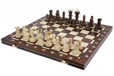 Ambassador Handmade Wooden Chess Set w/ 21 Inch Board and Detailed Chessmen