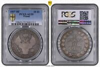 POLOGNE 1,5 ROUBLES - 10 ZLOTYCH 1837 НГ PCGS AU55