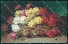Artist Signed W. Schulze Flowers Meissner Buch serie 2330 cartolina XP8916