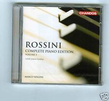 CD NEW ROSSINI COMPLETE PIANO EDITION VOL 3 MARCO SOLLINI