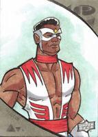 2019 Marvel Premier Sketch Card 1/1 Spencer Douglas Falcon