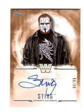 WWE Sting 2017 Topps Undisputed Bronze On Card Autograph SN 80 of 99