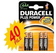 40 PILE MINISTILO DURACELL PLUS POWER LR03 AAA KIT 10 BLISTER DA 4PZ