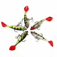 5pcs/lot 11g Fishing Lures Sea Tackle Silicon Rubber Wobblers Jig Hook Treble