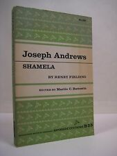Joseph Andrews & Shamela by Henry Fielding (1961, Paperback) Riverside Editions