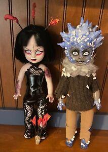 Living Dead Dolls Handmade OOAK Custom Lot of 2 Jack Frost & Flame Thrower Girl