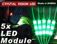 Crystal Vision LED 4X4/OFF ROAD/JEEP Under Body Rock Lights Bright Green (5 PCS)