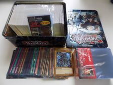 STARTER SET YUGIOH BUNDLE TIN 100 / 250 / 500 CARDS W/  HOLOS W/ CARD SLEEVES