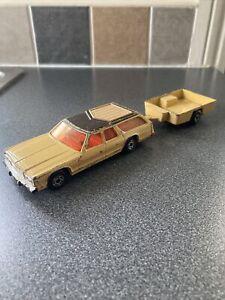 Matchbox Moko Lesney Superkings K67/68 Dodge Monaco Estate And Trailer