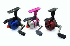 (3) Zebco 33 Custom Micro Triggerspin Reels with Bite Alert (Red/Blue/Pink)
