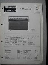 ITT/Schaub Lorenz Golf europa 102 Service Manual, K011