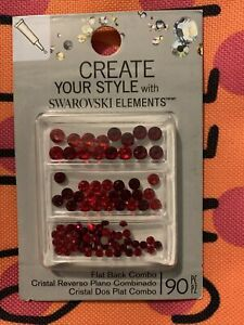 6QTY.Create Your Style with Swarovski Elements Flat Back Combo3mm4mm5mm Mix Red