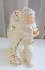 Lenox Holiday Santa Cookie Jar Skating Toy Sack Gift Bag Christmas