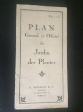 Ancien plan carte du jardin de plantes