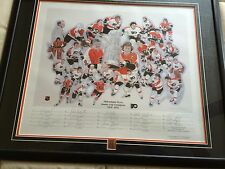 """""""PHILA FLYERS STANLEY CUP CHAMPIONS 1974-1975 LTD ED. PRINT BY JERRY THIERROLF"""