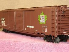 LIONEL SCALE #6-27204 GRAND TRUNK WESTERN 50FT DD BOX CAR w/AUTO FRAME LOAD!!