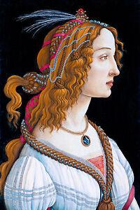 Sandro Botticelli - Idealized Portrait of a Lady, Museum Poster, Canvas Print