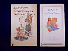 Alaska's Good News for Ice Cream Lovers recipe booklet brochure with models