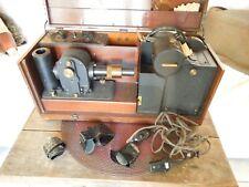 """Vintage Cambridge """"Simpli-Trol"""" Portable Electrocardiograph w/accessories 1940's"""