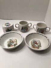 Wedgwood Peter Rabbit Collection - Bowls, Cups And Coin Bank Set of 5
