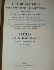Dante, Divina Commedia, Sorio: Lettere dantesche Paradiso I / Boncompagni 1864
