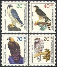 Germany (B) 1973 Eagle/Hawk/Falcon/Birds/Raptors/Wildlife 4v set (n28264)