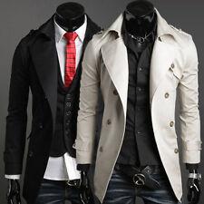 New Design Men Winter Casual Slim Fit Trench Coat Camo Jacket Outerwear Overcoat