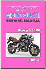MOTO GUZZI Workshop Manual V1100 Breva 2005 2006 2007 2008 on FACTORY