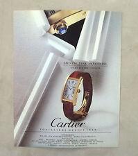E769- Advertising Pubblicità -1995- CARTIER MONTRE TANK AMERICAINE