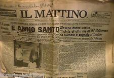 IL MATTINO 26 Marzo 1983 Giubileo Avellino Napoli Battipaglia Tobagi La Ganga di