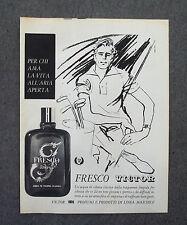 G793 - Advertising Pubblicità - 1962 - FRESCO VICTOR ACQUA DI COLONIA CLASSICA