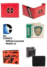 DC Comics Geldbörse x1-Batman Deadpool Groot Justice League Bi-Fold Wallet-NEU