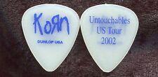 Korn 2002 Untouchables Tour Guitar Pick! custom concert stage Pick #1