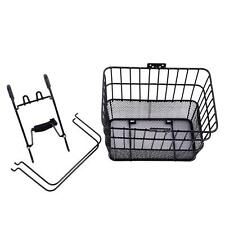 Ohuhu Lift-Off Front Bike Basket Black High Quality, Heavy Duty