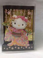 NEW Special Sanrio 3D Greeting Card Kimono Hello Kitty Sakura Japanese Costume